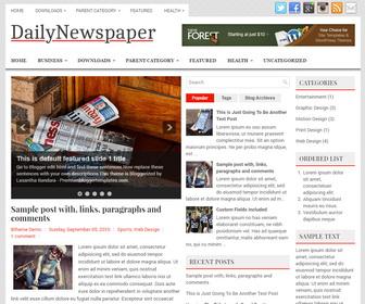 DailyNewspaper Blogger Template
