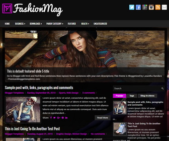 FashionMag Blogger Template