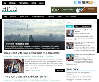 Higis Blogger Template