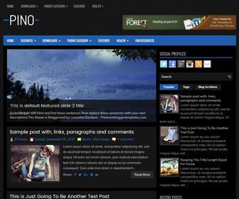 Pino Blogger Template