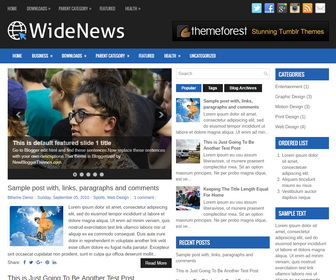 WideNews Blogger Template