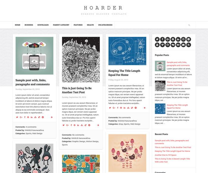 Hoarder Blogger Template
