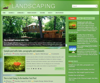 Landscaping Blogger Template
