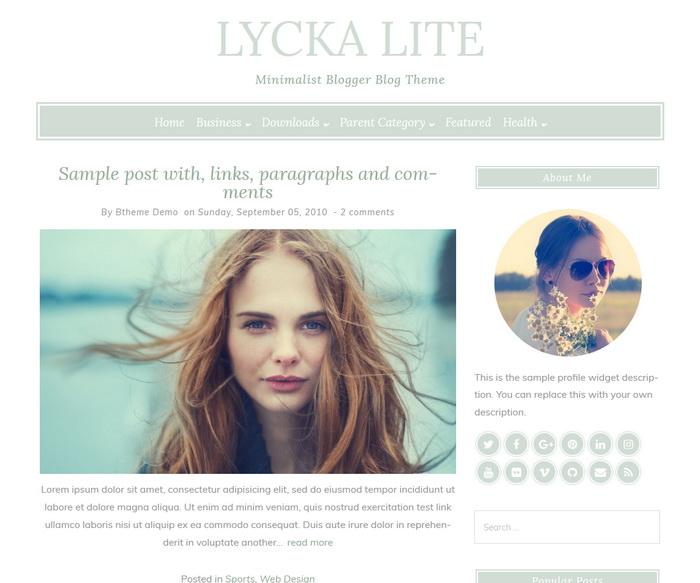 Lycka lite Blogger Template