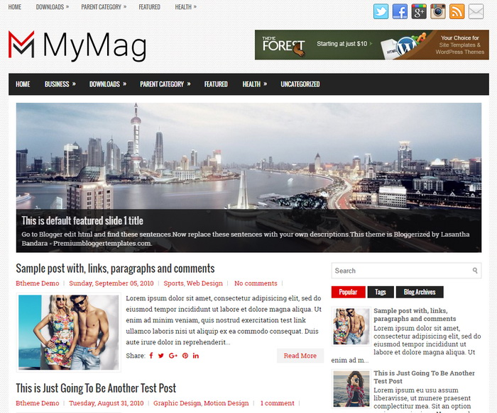 MyMag Blogger Template
