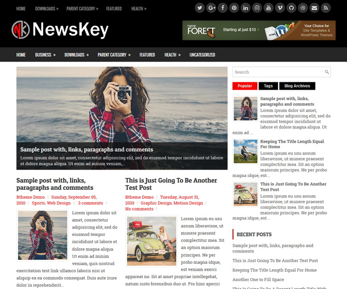 NewsKey Blogger Template