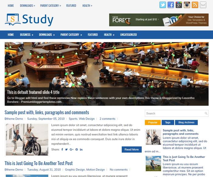 Study Blogger Template