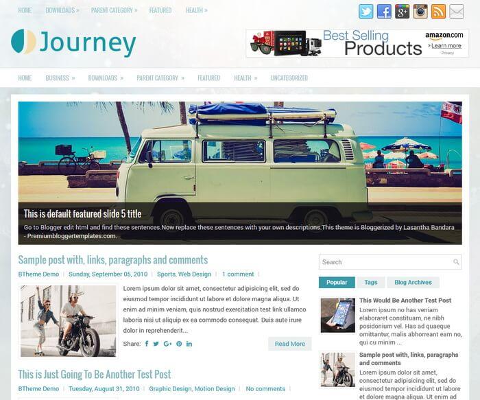 Journey Blogger Template
