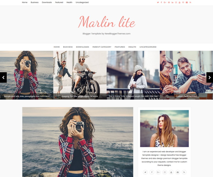 Marlin lite Blogger Template