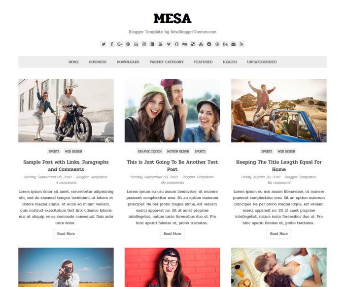 Mesa Blogger Template
