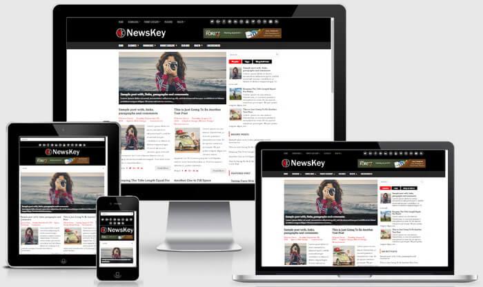 Responsive View - NewsKey Blogger Template