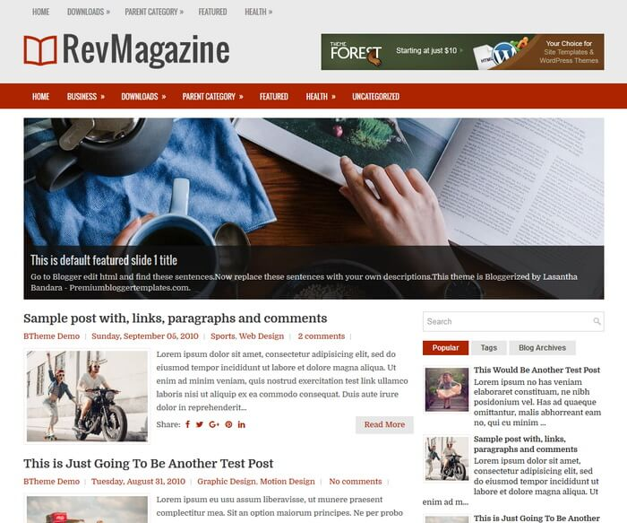 RevMagazine Blogger Template